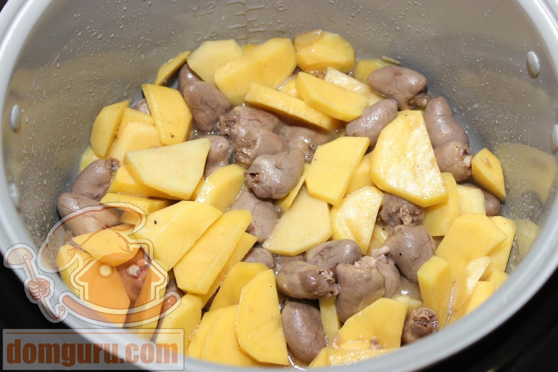 как приготовить куриные сердечки в мультиварке рецепты