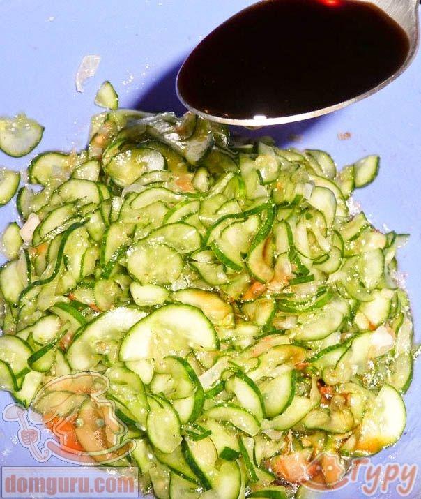 рецепт корейского салата из огурцов и говядины