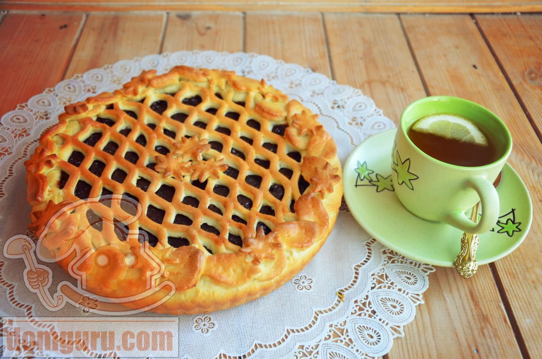 Пирог сладкий из дрожжевого теста пошагово