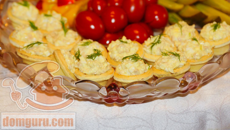 Начинка для тарталеток с печенью трески и сыром