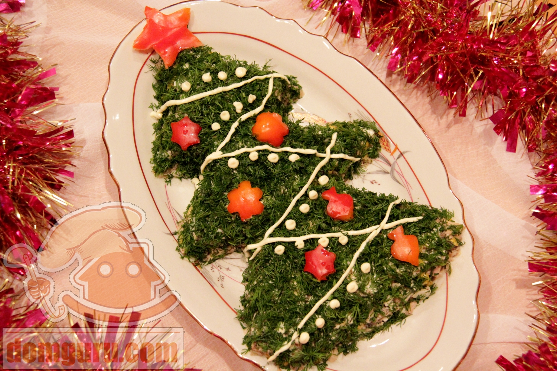 Новогодние украшения салата фото